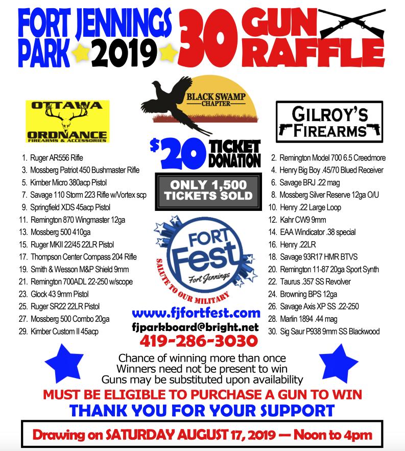 Gun Raffle - Fort Jennings Fort Fest